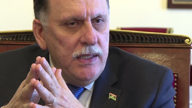libya's prime minister fayez alsarraj said on tuesday he was ready to form a new more inclusive government and was looking to unify the army after... - vox populi stock videos & royalty-free footage