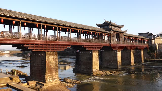 lichuan xinfeng bridge is located in rifeng town, lichuan county, fuzhou city, jiangxi province. - china east asia stock videos & royalty-free footage