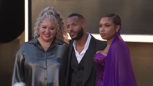 """liesl tommy, marlon wayans, jennifer hudson at the """"respect"""" los angeles premiere at regency village theatre on august 8, 2021 in los angeles,... - respect stock videos & royalty-free footage"""