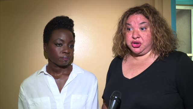 interview liesl tommy with danai gurira talks about exposing stories as a director that are usually underexposed at national democratic leader nancy... - danai gurira stock videos and b-roll footage