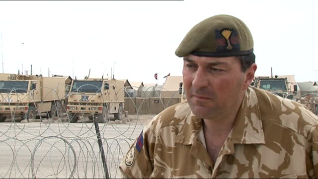 lieutenant colonel rupert thorneloe speaking in afghanistan before his death sot it's a mission we believe in it's a mission we're proud to be doing... - ジュリー エッチンガム点の映像素材/bロール