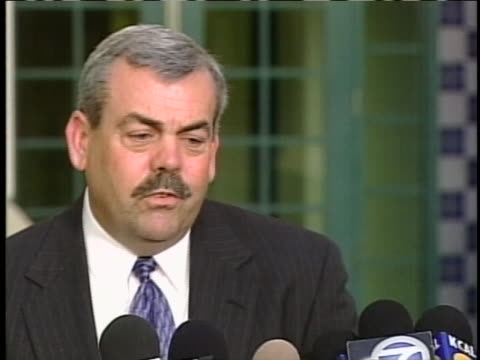lieutenant gary gilmond discusses winona ryder case at press conference - winona ryder stock videos & royalty-free footage