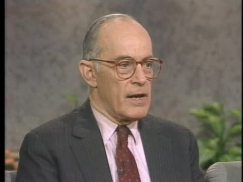 lieutenant general and former national security agency director william odom discusses the desert storm battle plan. - national security agency usa stock videos & royalty-free footage