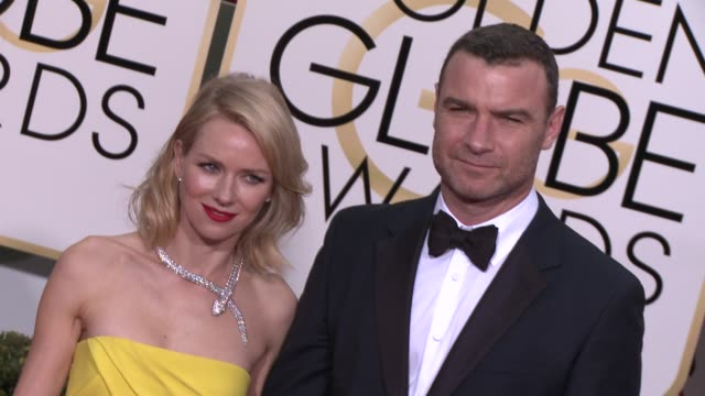 Liev Schreiber and Naomi Watts at the 72nd Annual Golden Globe Awards Arrivals at The Beverly Hilton Hotel on January 11 2015 in Beverly Hills...