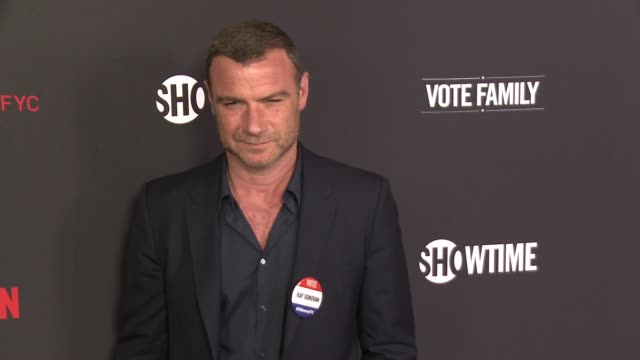 """liev schreiber at for your consideration screening and panel for showtime's """"ray donovan"""" - red carpet at paramount theater on the paramount studios... - showtime video stock e b–roll"""