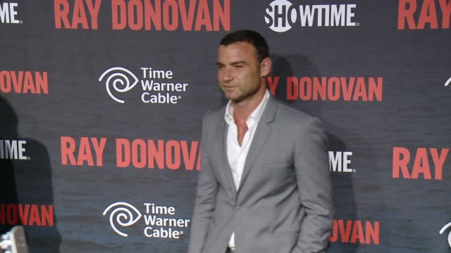"""liev schreiber at showtime and time warner cable celebrate season two of """"ray donovan"""" in los angeles, ca 7/9/14 - showtime video stock e b–roll"""