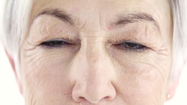 life as seen through her eyes - caratteristica della pelle video stock e b–roll