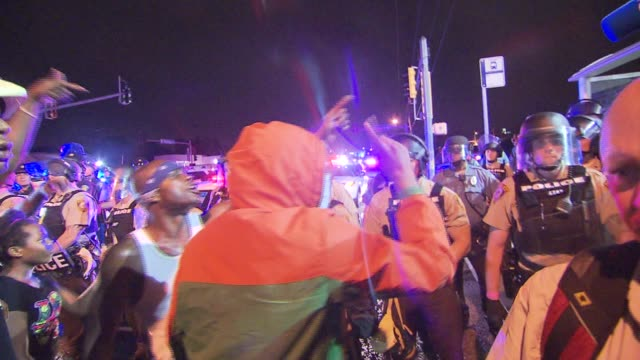 life in ferguson one year after the death of michael brown on august 12 2015 in ferguson missouri - ミズーリ州点の映像素材/bロール