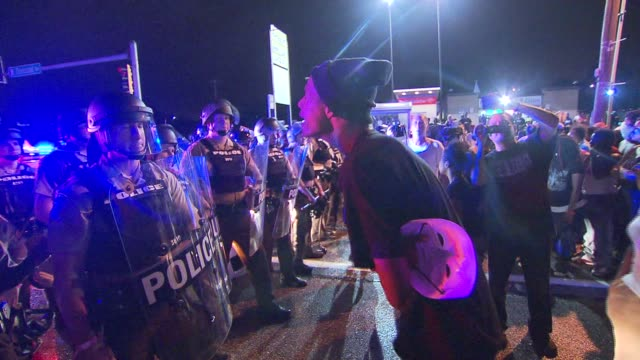 life in ferguson one year after the night michael brown was shot on august 12 2015 in ferguson missouri - missouri stock videos & royalty-free footage