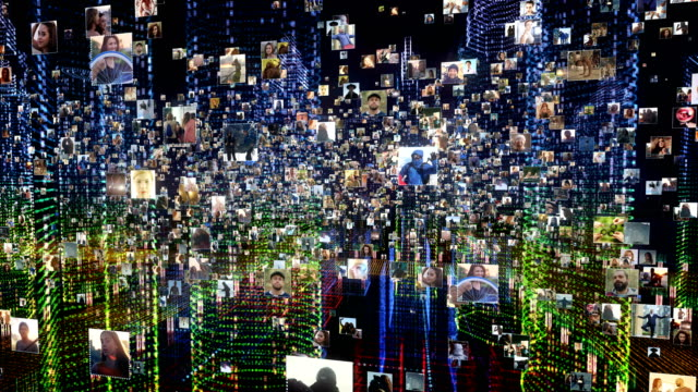 life in holographic city. global networking - surfing the net stock videos & royalty-free footage