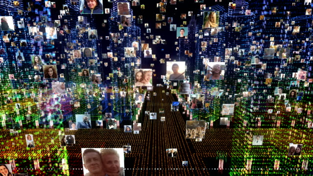 life in holographic city. global networking - composite image stock videos & royalty-free footage