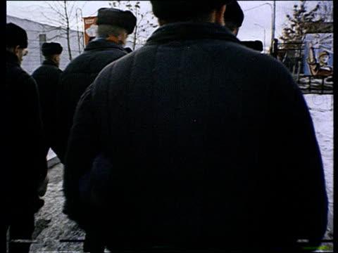 life in russian prison prison for men - prisoner walking stock videos & royalty-free footage