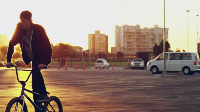 life is better on two wheels - freestyle bmx stock videos and b-roll footage