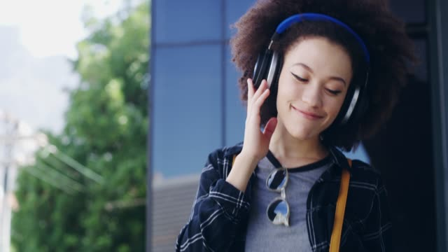 life is short, listen to good music - headphones stock videos & royalty-free footage