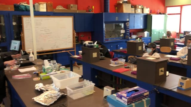 stockvideo's en b-roll-footage met life sciences professor dr. christy strong teaches an in-person phage discovery laboratory course at unlv amid the spread of the coronavirus on... - de ruimte en astronomie