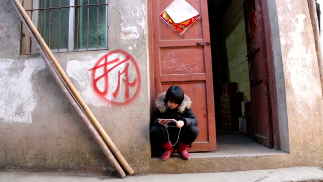 life style in the old street of chongren county - china east asia stock videos & royalty-free footage