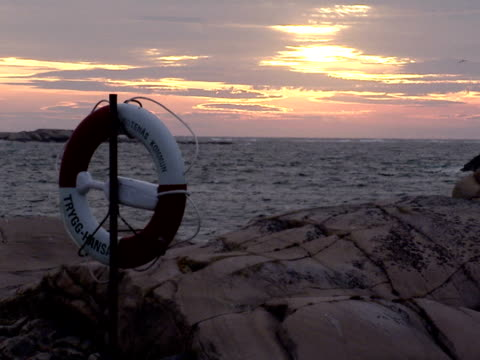 Lifebuoy by the ocean Sweden.