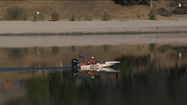 lifeguard at castaic lake - castaic lake stock videos and b-roll footage