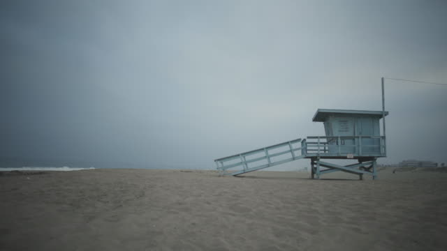 lifeguard station california los angeles - beach house stock videos & royalty-free footage