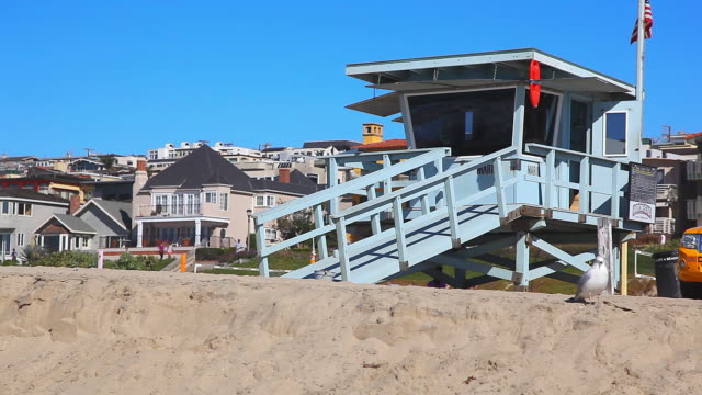 lifeguard truck is always ready for emergency rescue in los angeles california no - bagnino video stock e b–roll