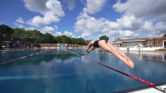 lifeguards training at parliament hill lido on july 11, 2020 in london, englandthe government has outlined the measures that will allow outdoor pools... - swimming pool stock videos & royalty-free footage