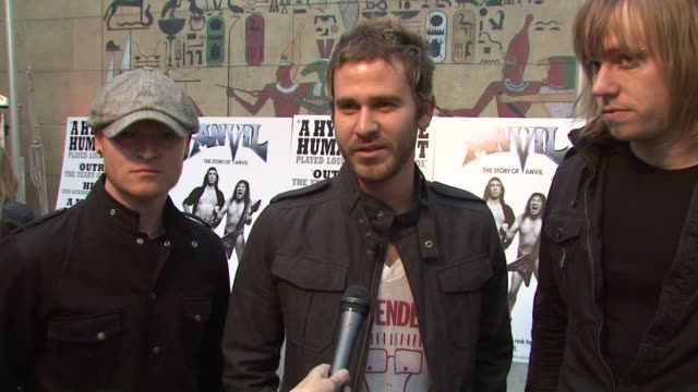 'lifehouse' 'lifehouse' on the film being 'anvil' fans at the 'anvil the story of anvil' premiere at los angeles ca - anvil the story of anvil stock videos and b-roll footage