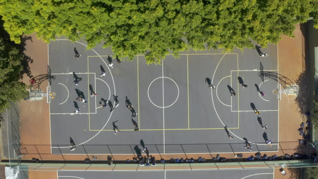 life's short, spend more time on a basketball court - sports court stock videos & royalty-free footage