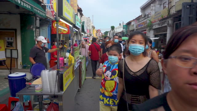 lifestyle in jonker street malacca, malaysia - malaysian culture stock videos & royalty-free footage