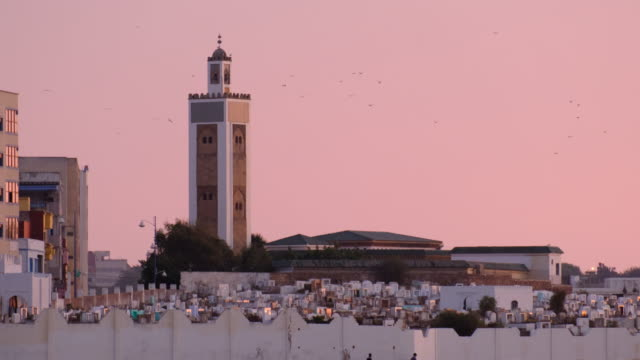 lifestyle in north african city in morocco - mosque stock videos & royalty-free footage
