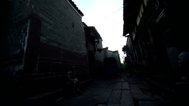 lifestyle in the xuwan town in jinxi county - china east asia stock videos & royalty-free footage