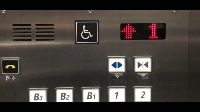 lift button with number