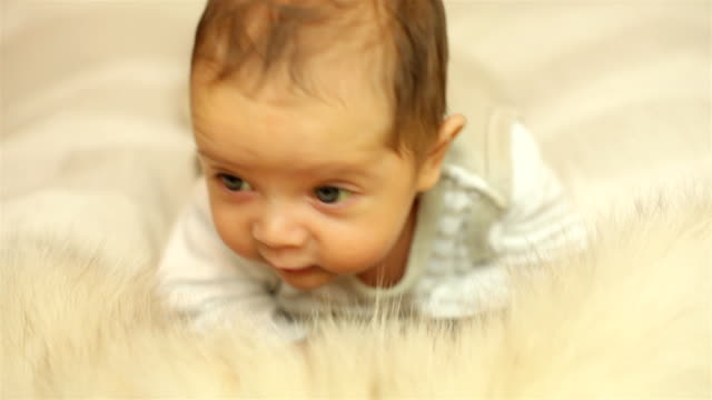 lift your head baby - baby blanket stock videos and b-roll footage