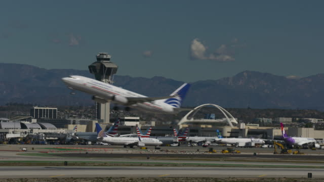 lift-off from lax - taking off stock videos and b-roll footage