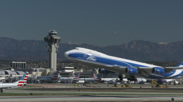 lift-off from lax - air traffic control tower stock videos and b-roll footage