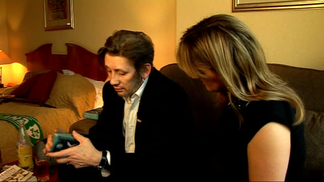 bbc lifts censorship of pogues christmas song adam mattera interview sot shane macgowan talking about tarot cards with west shane macgowan interview... - tarot cards stock videos & royalty-free footage