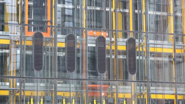 lifts on the outside of the new leadenhall building in the city of london, united kingdom. - glass material stock videos & royalty-free footage