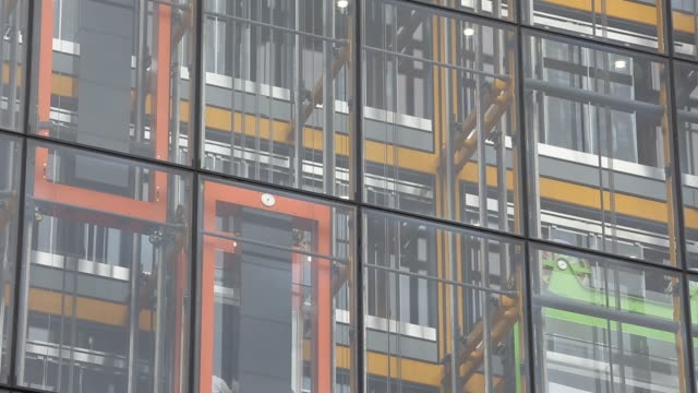 lifts on the outside of the new leadenhall building in the city of london, united kingdom. - construction frame stock videos & royalty-free footage