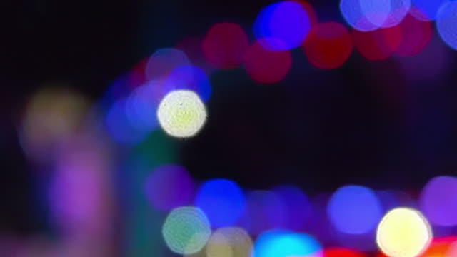 light abstracts at santa monica pier - santa monica pier stock videos & royalty-free footage
