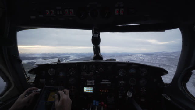 light aircraft cockpit - pilot stock videos & royalty-free footage