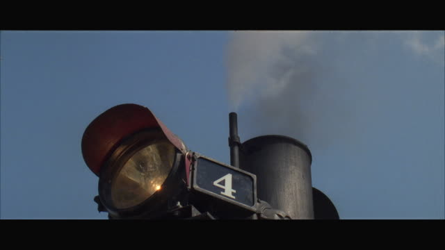 CU LA Light and smokestack on front of steam train