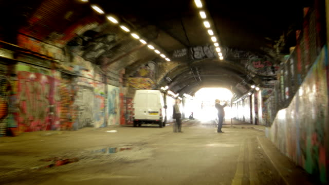 light at the end of a tunnel. hd - graffiti stock videos & royalty-free footage