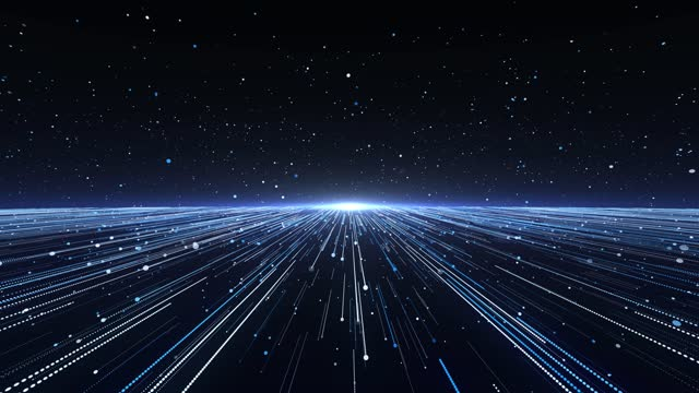 light beam blue particle background 4k loopable - journey stock videos & royalty-free footage