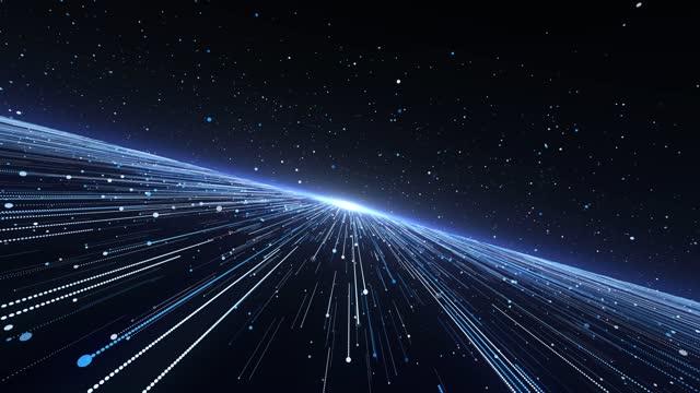 光ビームブルー粒子の背景4kループ可能 - 彗星点の映像素材/bロール