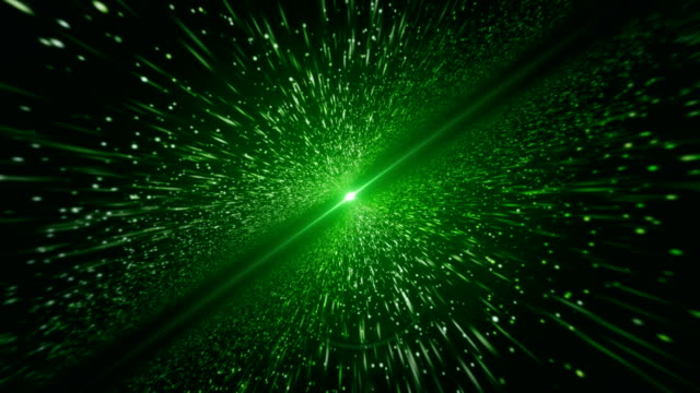 light beam, green particle (loopable) - emitting stock videos & royalty-free footage