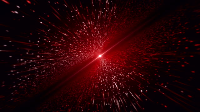 Light Beam, Red Particle Background