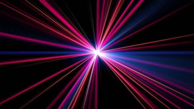 vídeos de stock, filmes e b-roll de explosão de luz, hd 3d - multi coloured
