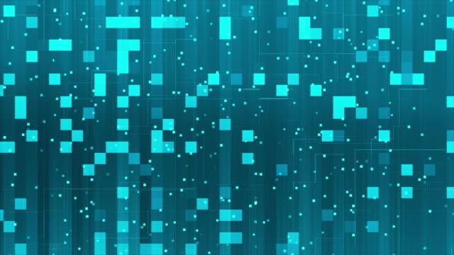 vidéos et rushes de fond bleu clair-métrage de stock - carré forme bidimensionnelle