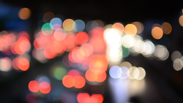Light bokeh movement