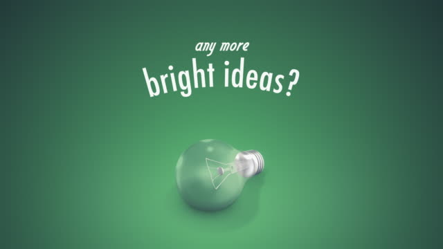 light bulb bright ideas text - question mark stock videos & royalty-free footage