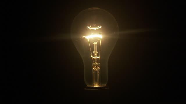 a light bulb, close-up. - energy efficient lightbulb stock videos & royalty-free footage